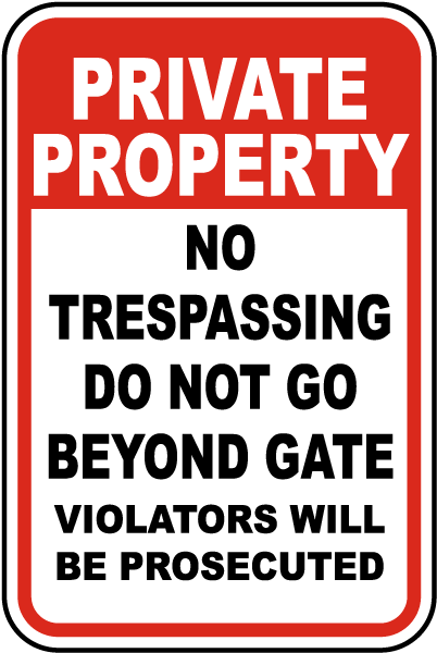 Do Not Go Beyond Gate Sign