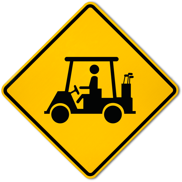 Golf Cart Crossing Sign