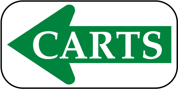 Carts Sign with left arrow