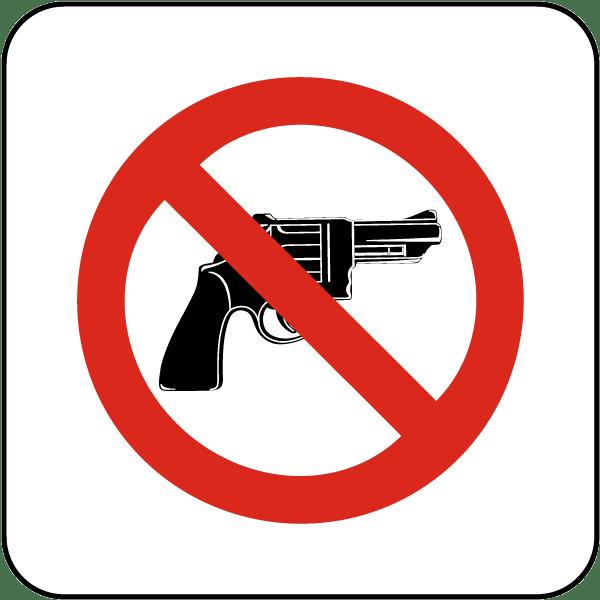 No Firearms Sign