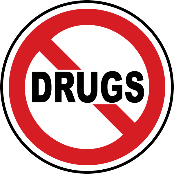Drugs Prohibited Label