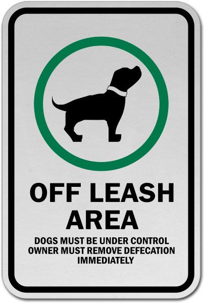 Off Leash Area Sign