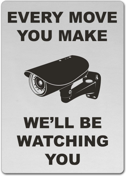 We'll Be Watching You Sign
