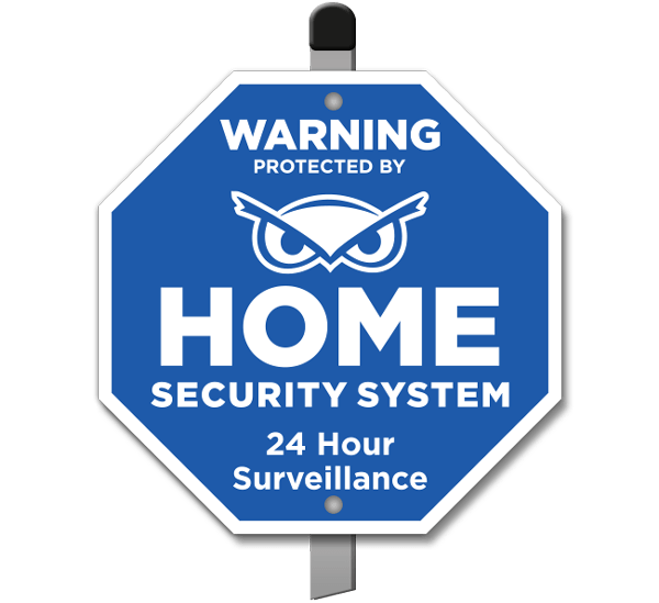 Protected by Home Security System Yard Sign