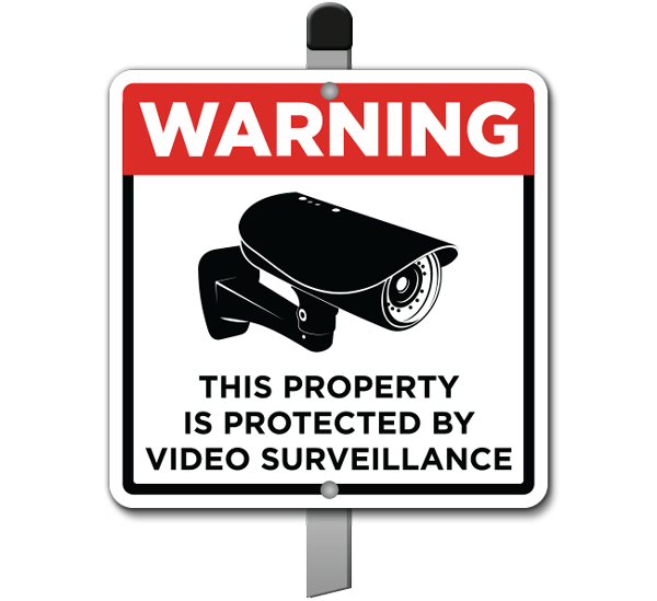 Protected by Video Surveillance Yard Sign