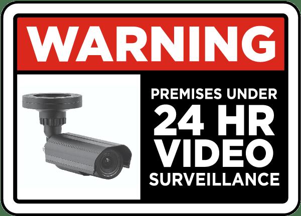 Under 24 Hr Video Surveillance Sign