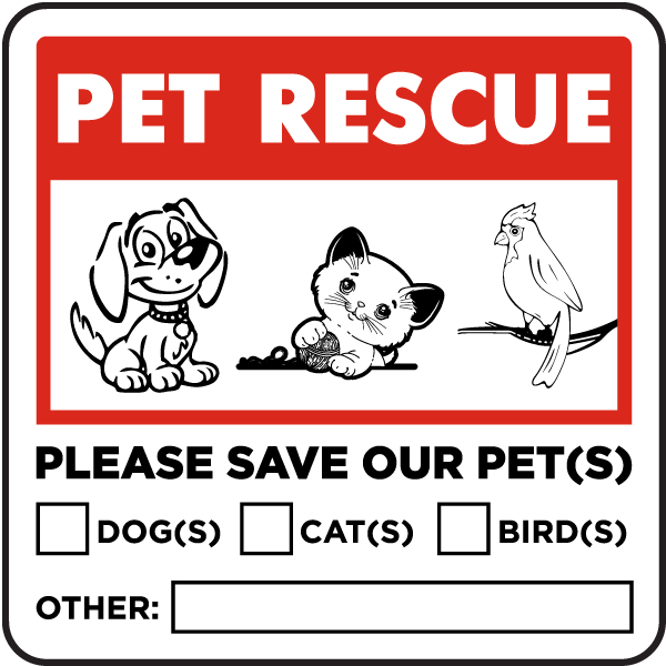 Please Save Our Pets Sticker