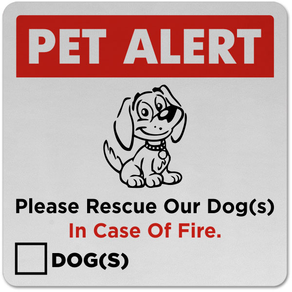 Please Rescue Our Dog Sticker