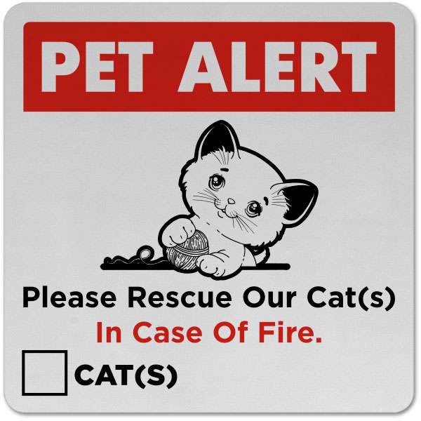 Please Rescue Our Cat Sticker