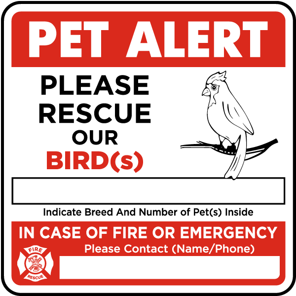 Please Rescue Our Bird with Contact Information Sticker