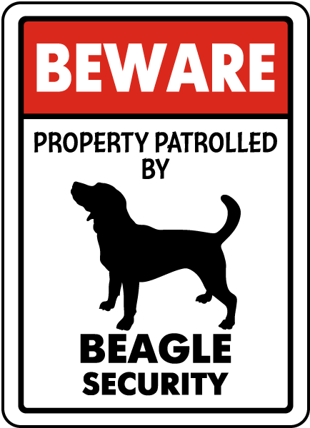 Property Patrolled By Beagle Security Sign