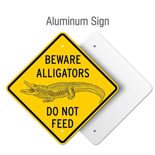 Beware Alligators Do Not Feed Sign