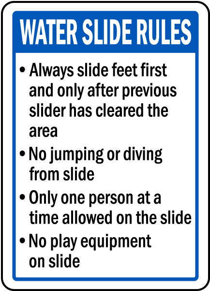 Arkansas Water Slide Rules Sign