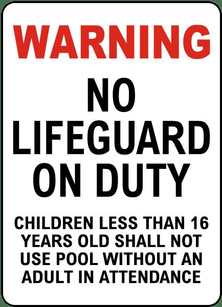 Wichita County Kansas No Lifeguard Sign