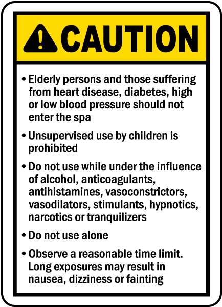 Wichita County Kansas Spa Rules Sign