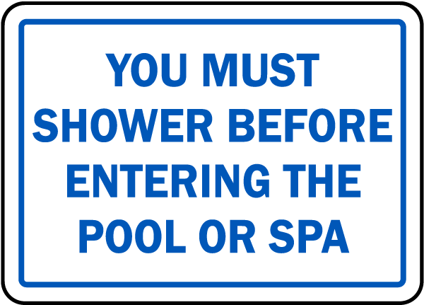 Maine bathers must shower sign f8276 by for Design your own bathers
