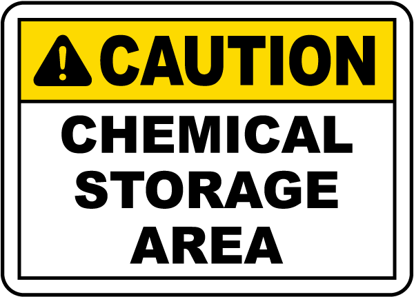 Maryland Chemical Storage Sign