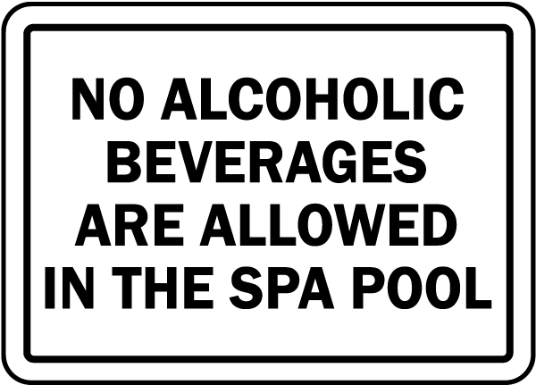 Michigan No Alcoholic Beverages Sign