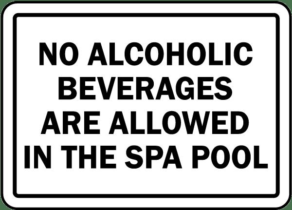 Michigan No Alcoholic Beverages Sign