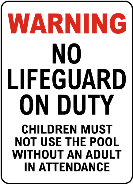 Minnesota No Lifeguard Sign