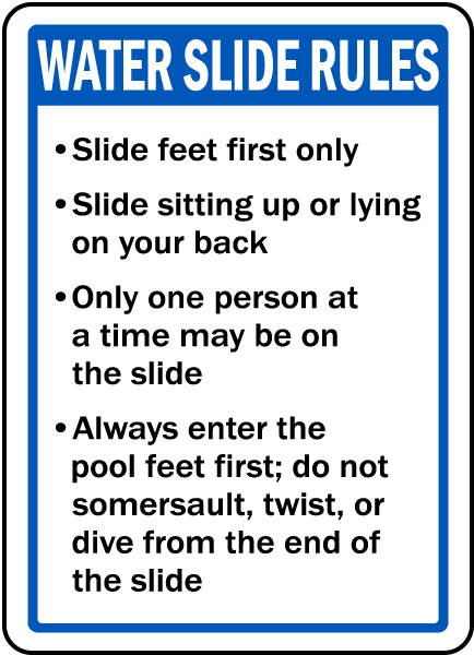 New Mexico Water Slide Rules Sign
