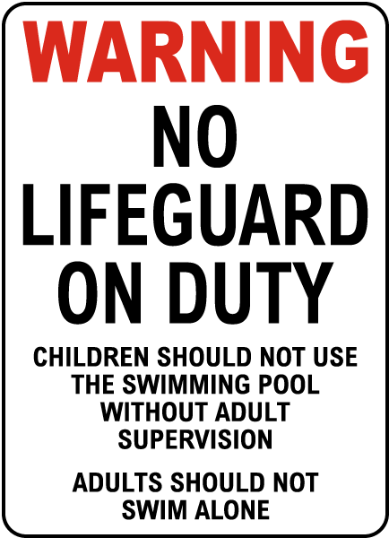 North Carolina No Lifeguard Sign