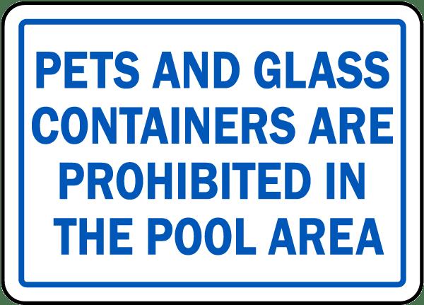 North Carolina No Pets No Glass Sign