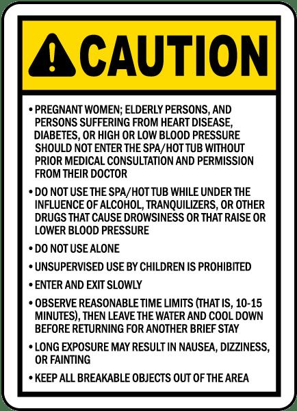 North Carolina Spa Caution Sign