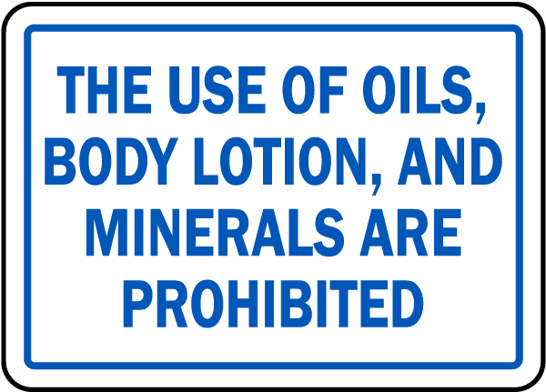 North Carolina Prohibited In Spa Sign