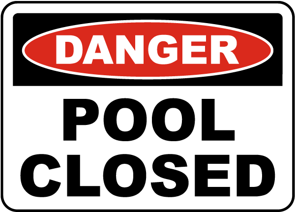 Ohio Pool Closed Sign