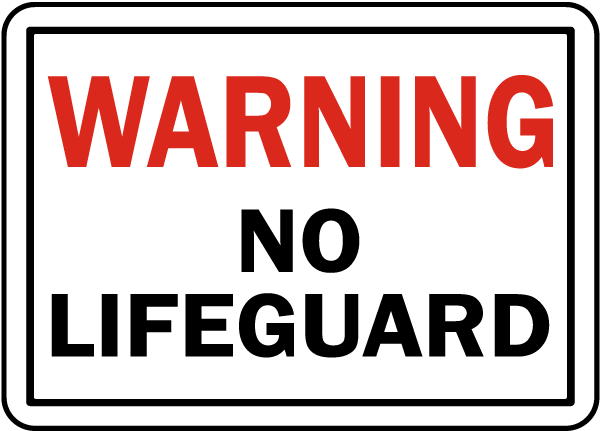 Tennessee No Lifeguard Sign