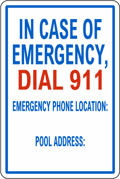 Texas In Case Of Emergency Pool Sign