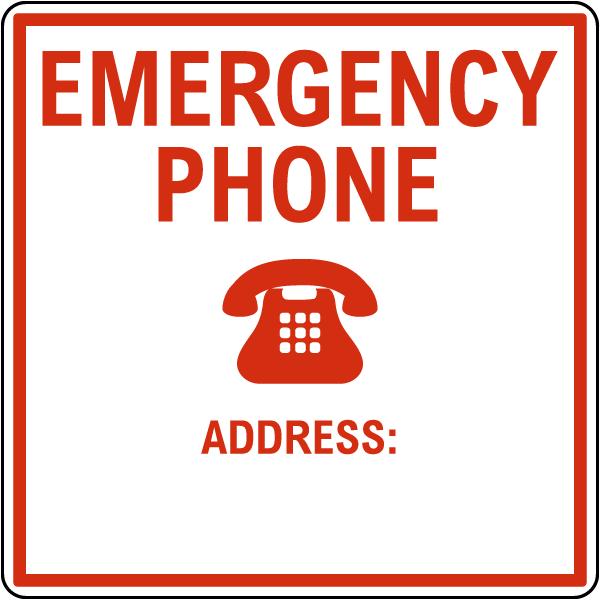 Texas Emergency Phone Sign