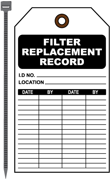 Filter Replacement Record Tag