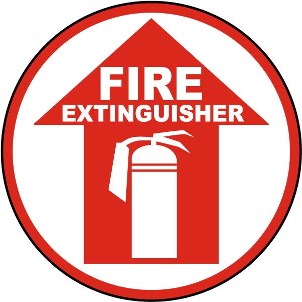 Fire Extinguisher Floor Sign