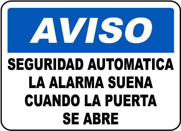 Spanish Security Alarm Will Sound Sign