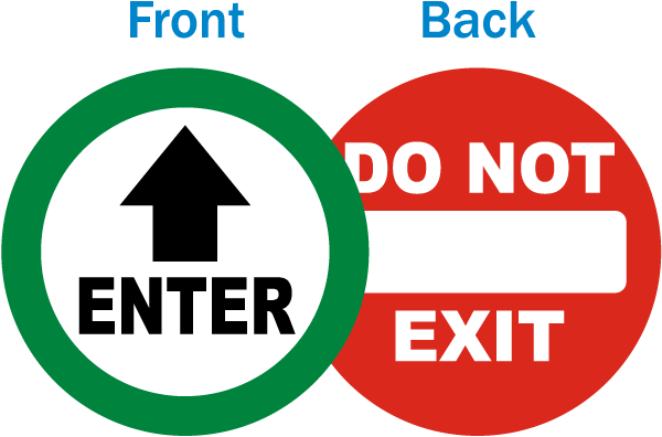 Enter / Do Not Exit Label
