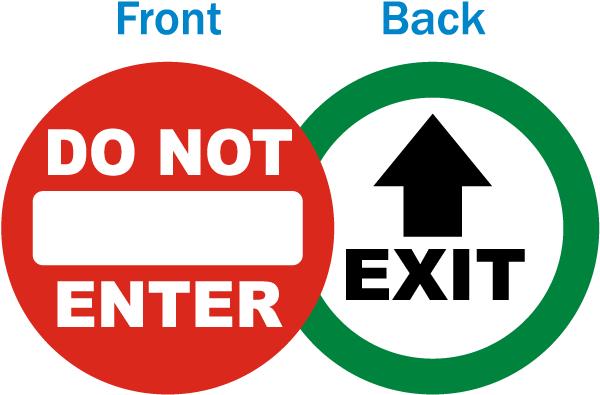 Do Not Enter / Exit Label