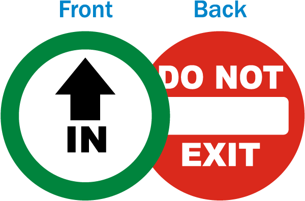 In / Do Not Exit Label