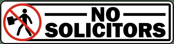 No Solicitors Label