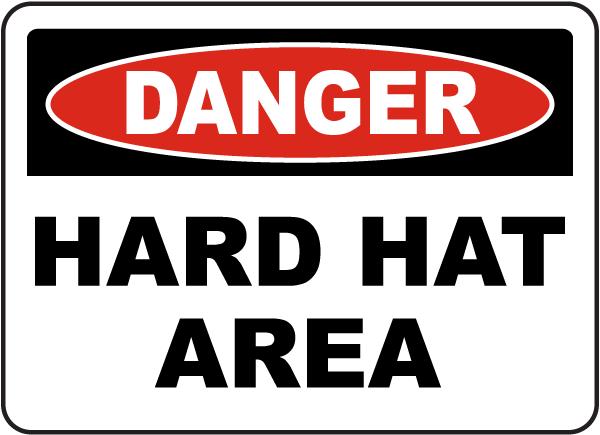 Danger Hard Hat Area Sign