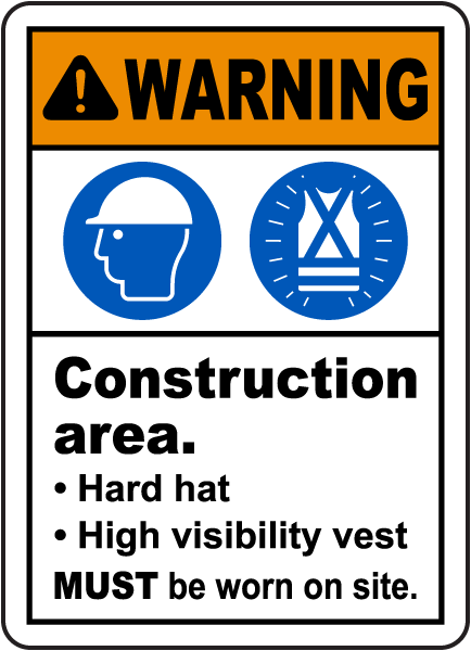 Warning Construction Area Sign