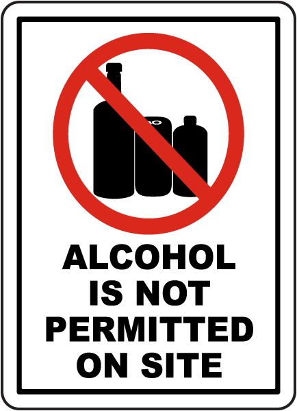 Alcohol Is Not Permitted Sign