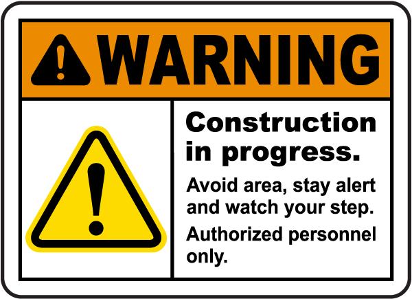 Construction In Progress Sign
