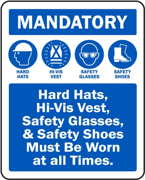 Mandatory PPE Sign