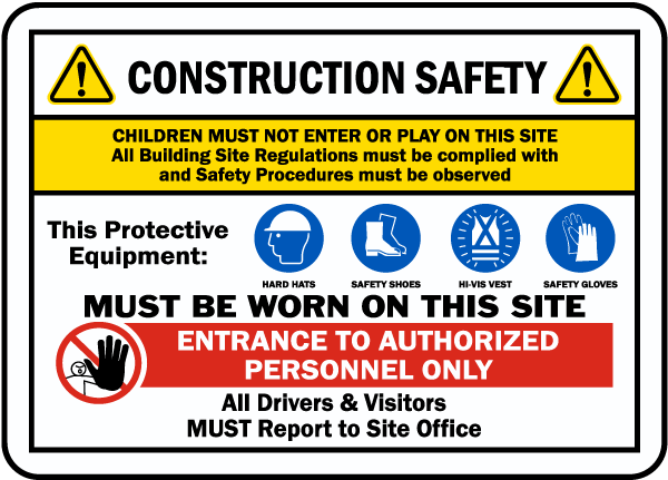 Construction Site Safety Sign