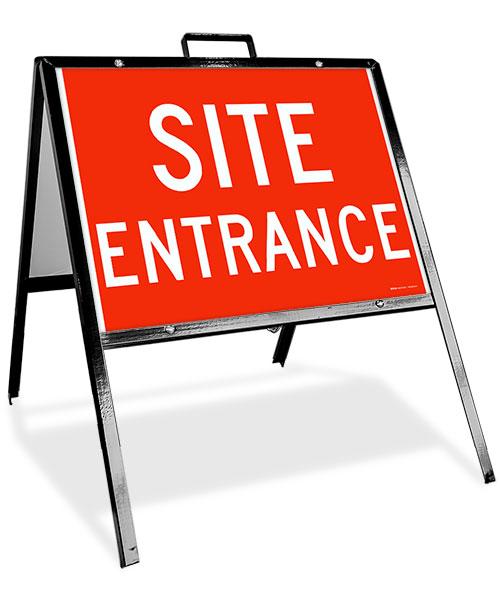 Construction Site Entrance Sandwich Board Sign