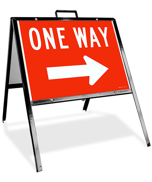 One Way Right Sandwich Board Sign