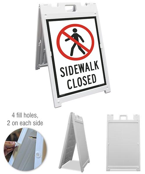 Sidewalk Closed Sandwich Board Sign