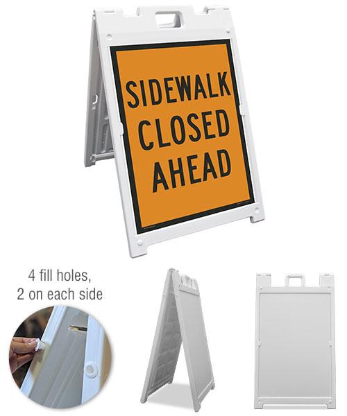 Sidewalk Closed Ahead Sandwich Board Sign